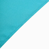 "90"" Turquoise Square Polyester Table Overlay"
