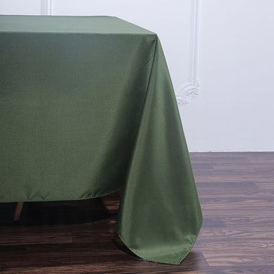 90 Inch Moss Green Square Polyester Tablecloth
