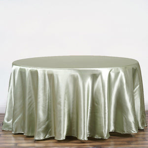 "108"" RESEDA Wholesale SATIN Round Tablecloth For Wedding Banquet Restaurant"