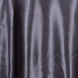 "108"" Charcoal Grey Satin Round Tablecloth"