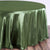 "108"" WILLOW GREEN Wholesale SATIN Round Tablecloth For Wedding Banquet Restaurant"