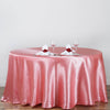 "120"" Rose Quartz Satin Round Tablecloth"