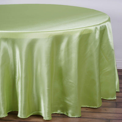 "120"" TEA GREEN Wholesale SATIN Round Tablecloth For Wedding Banquet Restaurant"