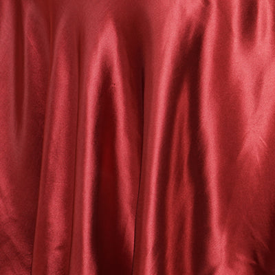 "120"" Wine Satin Round Tablecloth"