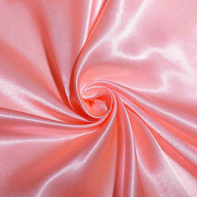 120 Coral Satin Round Tablecloth#whtbkgd