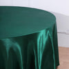 120 Hunter Emerald Green Satin Round Tablecloth