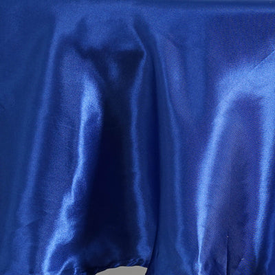 "90"" ROYAL BLUE Wholesale SATIN Round Tablecloth For Wedding Banquet Restaurant"