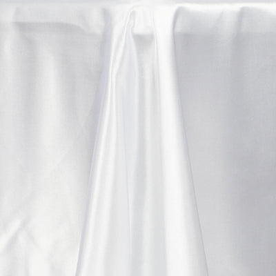 "50x120"" WHITE Wholesale SATIN Banquet Linen Wedding Party Restaurant Tablecloth"