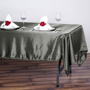 "60x102"" Midnight Green Satin Rectangular Tablecloth - Clearance SALE"