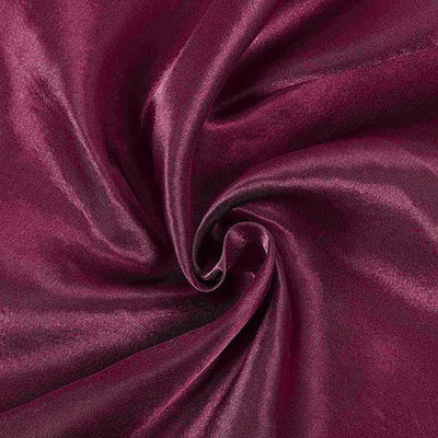 60x102 Eggplant Satin Rectangular Tablecloth#whtbkgd