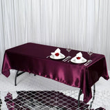60x102 Eggplant Satin Rectangular Tablecloth