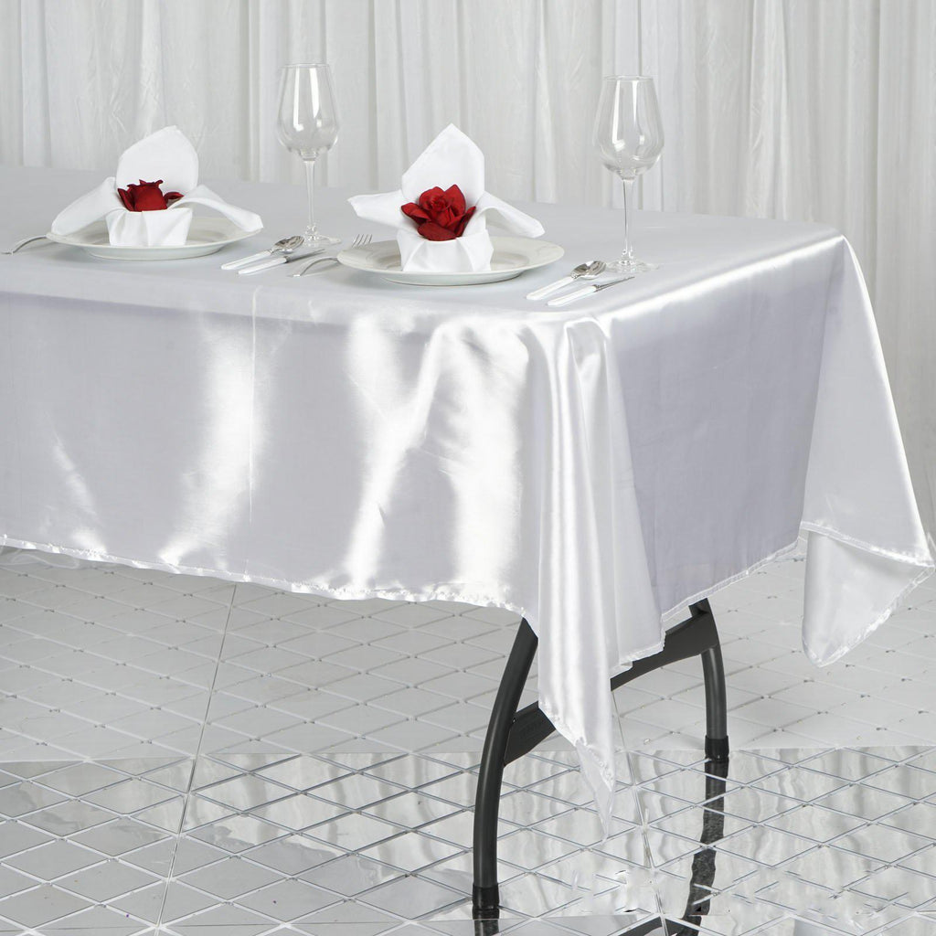 60x102 Quot White Wholesale Satin Banquet Linen Wedding Party