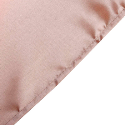 60x126 Dusty Rose Satin Rectangular Tablecloth