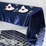 "60x126"" NAVY Wholesale SATIN Banquet Linen Wedding Party Restaurant Tablecloth"