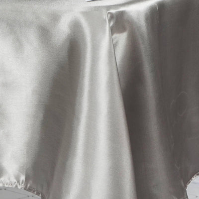 "60x126"" SILVER Wholesale SATIN Banquet Linen Wedding Party Restaurant Tablecloth"