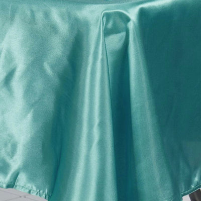 60x126 Turquoise Satin Rectangular Tablecloth