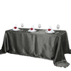 "90x132"" Midnight Green Satin Rectangular Tablecloth - Clearance SALE"