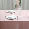 60x102 Dusty Rose Satin Rectangular Tablecloth