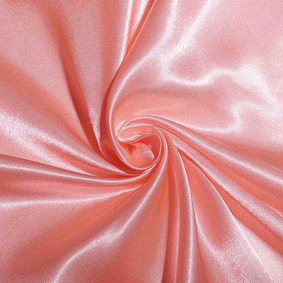 90x132 Coral Satin Rectangular Tablecloth#whtbkgd