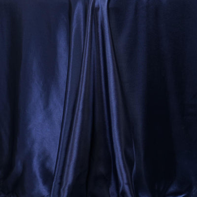 "90x132"" NAVY Wholesale SATIN Banquet Linen Wedding Party Restaurant Tablecloth"