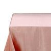 90x156 Dusty Rose Satin Rectangular Tablecloth