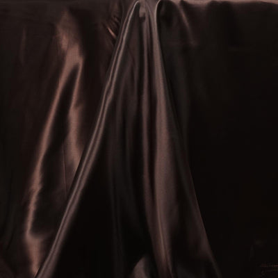 90x156 Chocolate Satin Rectangular Tablecloth