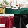 "90""x156"" Burgundy Satin Rectangular Tablecloth"