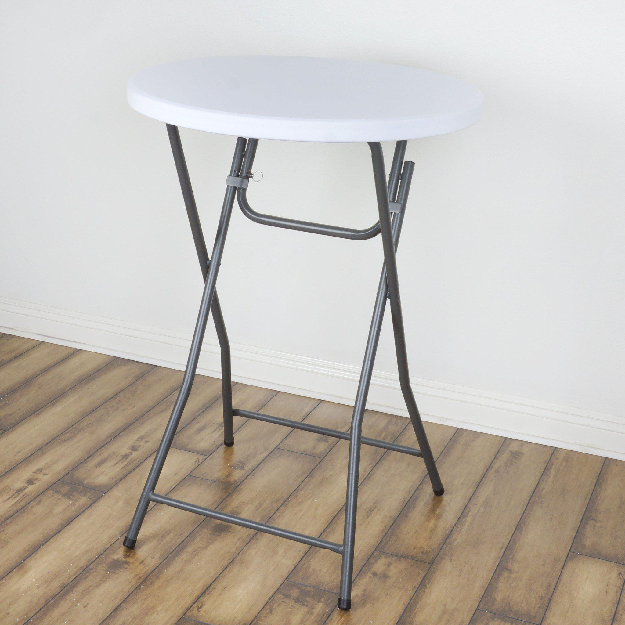 Spandex Cocktail Table Top Cover   White ...