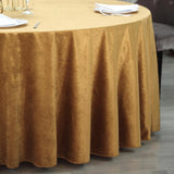 "120"" Premium Velvet Round Tablecloth - Gold"
