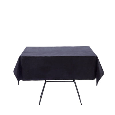 54inches x 54inches | Black | Premium Velvet Square Tablecloth