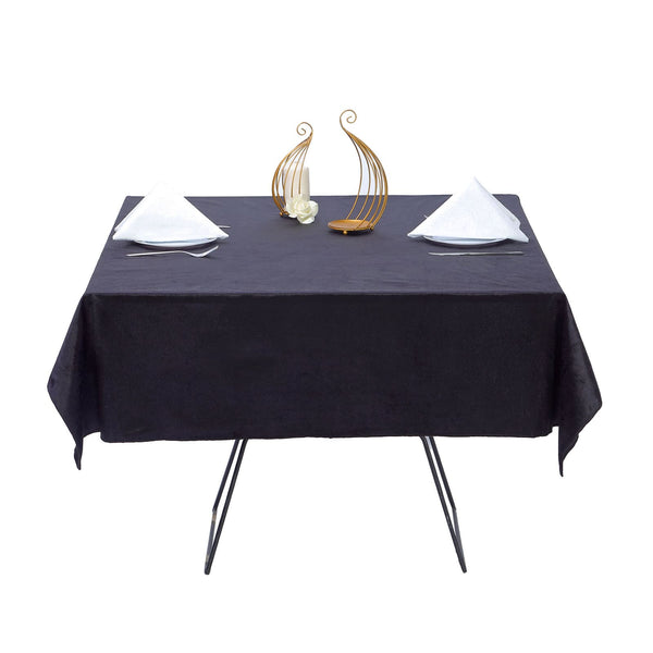 54'' x 54'' | Black | Premium Velvet Square Tablecloth