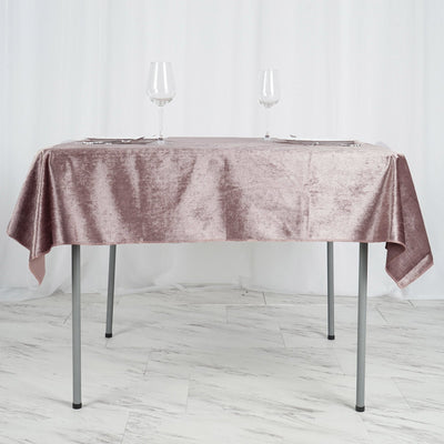 54'' x 54'' | Dusty Rose | Premium Velvet Square Tablecloth