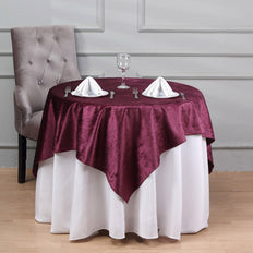 54'' x 54'' | Purple Square Velvet Tablecloth