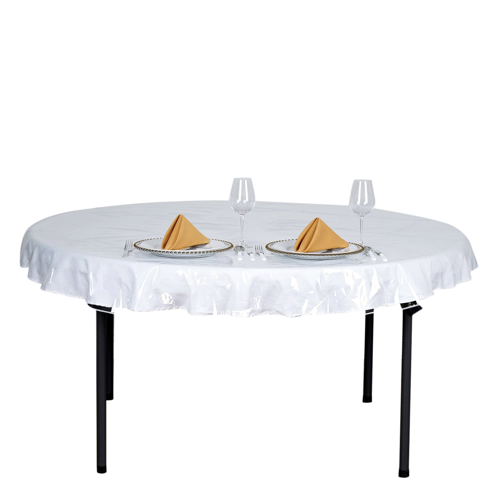 70 Clear 10 Mil Thick Eco Friendly Vinyl Waterproof Tablecloth Pvc Round Disposable Tablecloth Tableclothsfactory