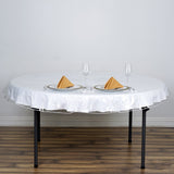 "70"" Eco-friendly Clear Disposable Round Vinyl Tablecloth Cover"
