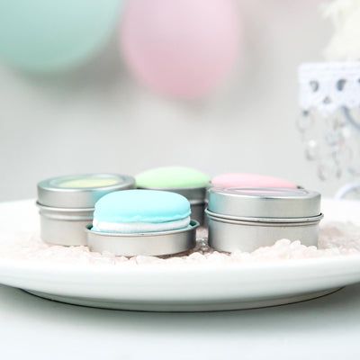 Pack of 10 | Silver Round Mint Tin Favor Boxes | Clear Top Candy Tin Party Favors