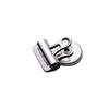 Pack of 4 | 7.5oz Silver Heavy Duty Refrigerator Magnet Clips, Magnetic Bulldog Clips