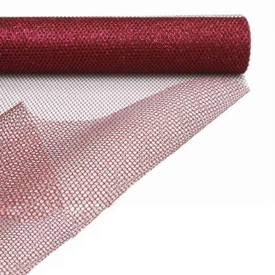 "19""x 10 Yards Wine EXQUISITE Stardusted Waffle Tulle Bolt"