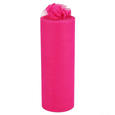 "12"" x 100 Yard Fushia Tulle Fabric Bolt"