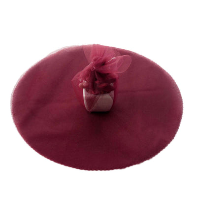 "25 Pack | 12"" Burgundy Tulle Circle"