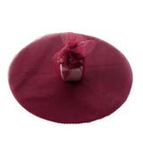 "25 Pack | 12"" Burgundy Scalloped Tulle Organza Circles for Wedding Favours"