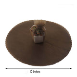 "25 Pack | 12"" Chocolate Scalloped Tulle Organza Circles for Wedding Favours"