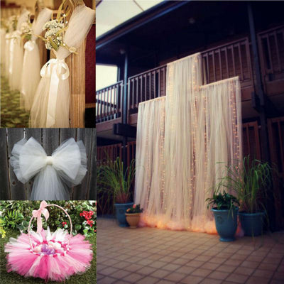 54 Inch x 40 Yards Tulle Fabric Bolt | TableclothsFactory