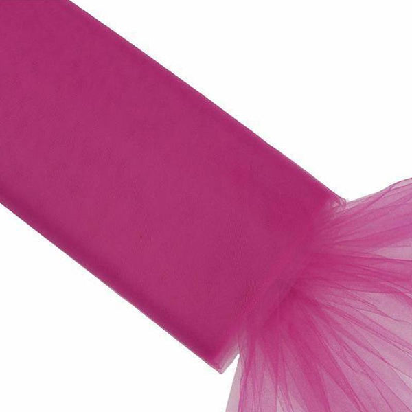 "54"" x 40 Yards Fushia Tulle Fabric Bolt"