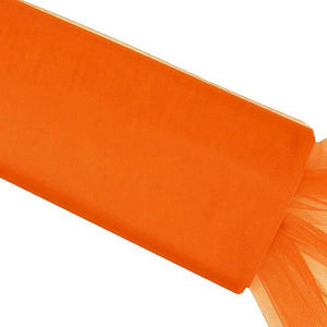 "54""x40 Yards Orange Tulle Fabric Bolt"