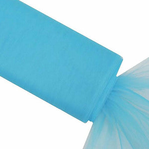 "54"" x 40 Yards Turquoise Tulle Fabric Bolt"