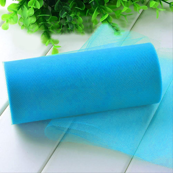 "6"" x 100 Yards Turquoise Tulle Fabric Bolt"