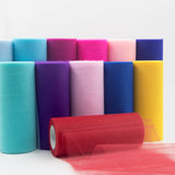 6 Inch x 100 Yards Tulle Fabric Bolt | TableclothsFactory