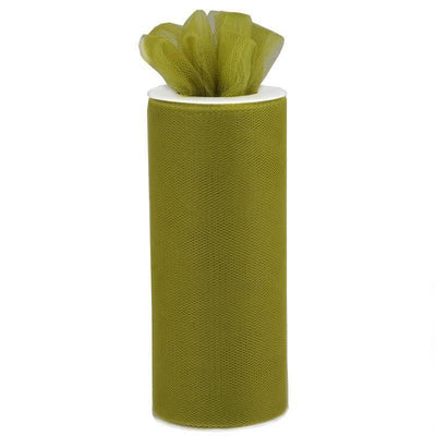 "6""x25 Yards Moss Green Tulle Fabric Bolt"