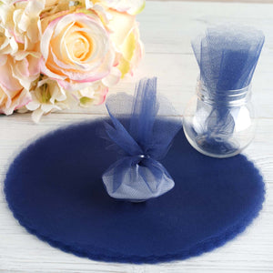 9 Inch | Sheer Nylon Fabric | Scalloped Tulle Circles | TableclothsFactory